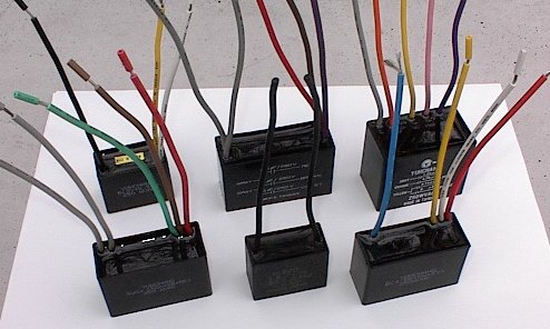 Capacitors for ceiling fans.